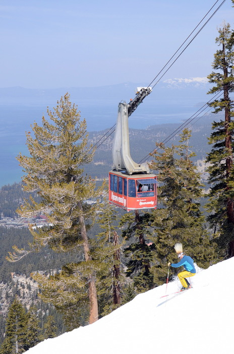 With beautiful views of Lake Tahoe, Heavenly is a hot spot for spring skiing. - ©Courtesy of Heavenly Mountain Resort