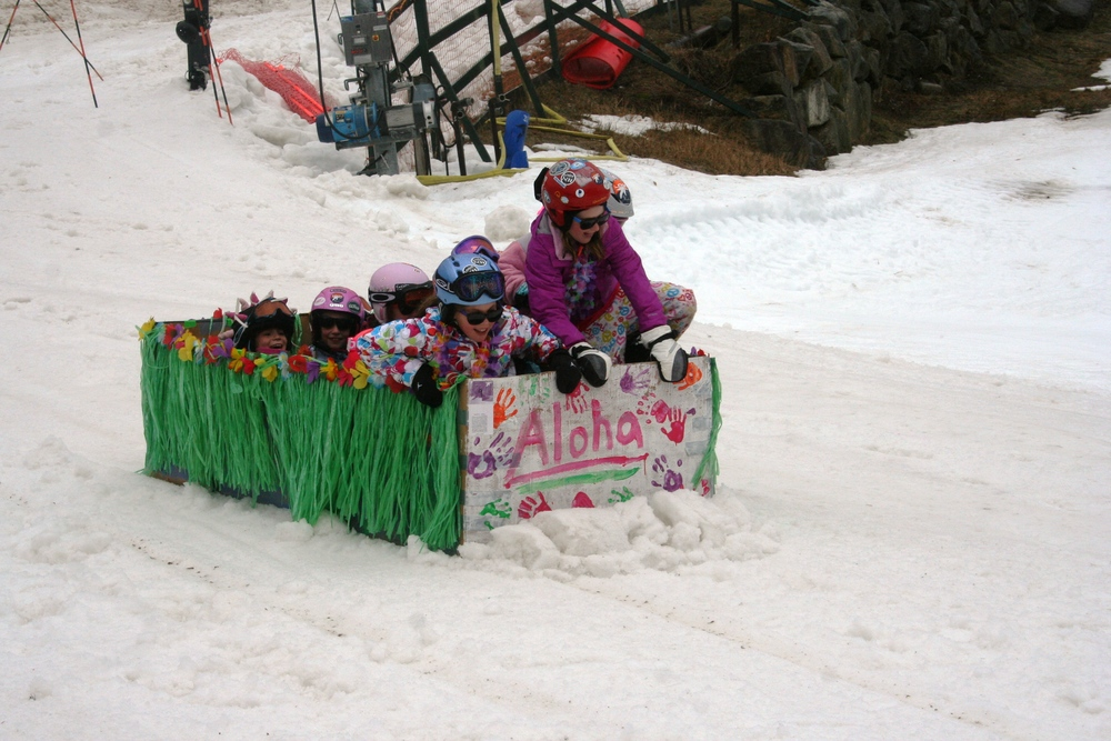 Cardboard Box Race at Loon Mountain. - ©Courtesy of Loon Mountain