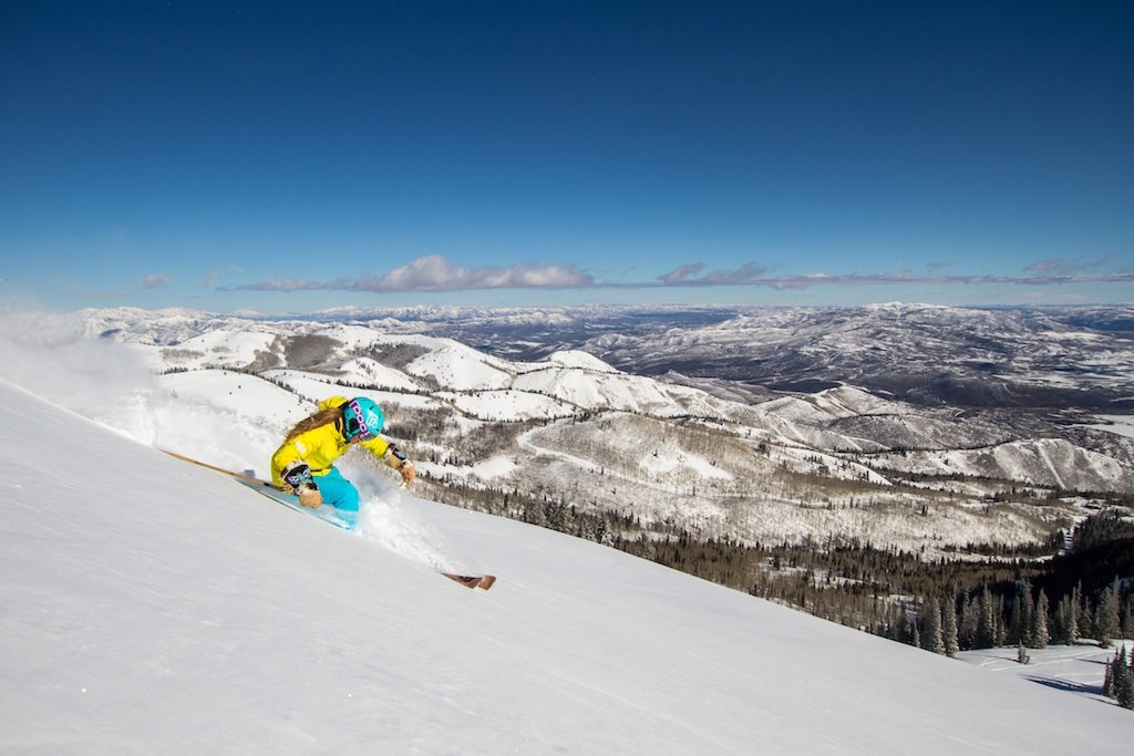Kaylin Richardson tears it up at Canyons in Park City, Utah.