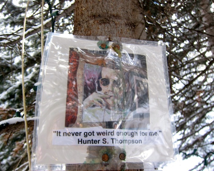 The Hunter S. Thompson Shrine at Snowmass Mountain.