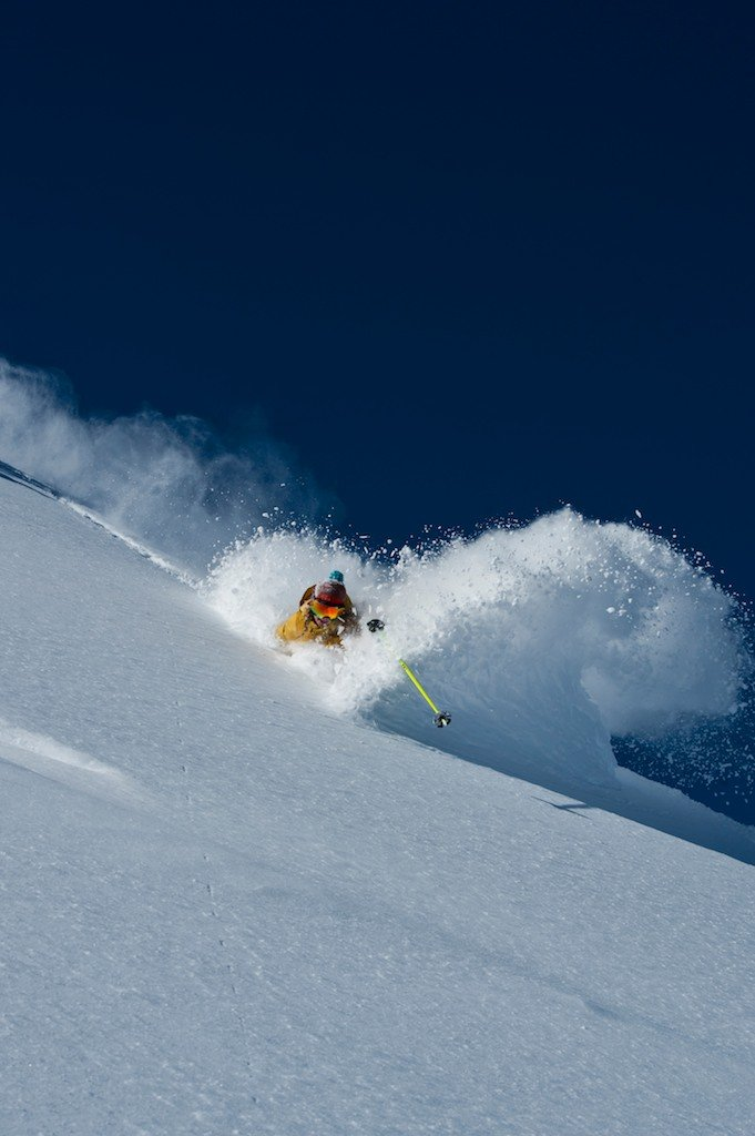 Another shot from Christmas day, Caroline Gleich itching to get an Alta facial.
