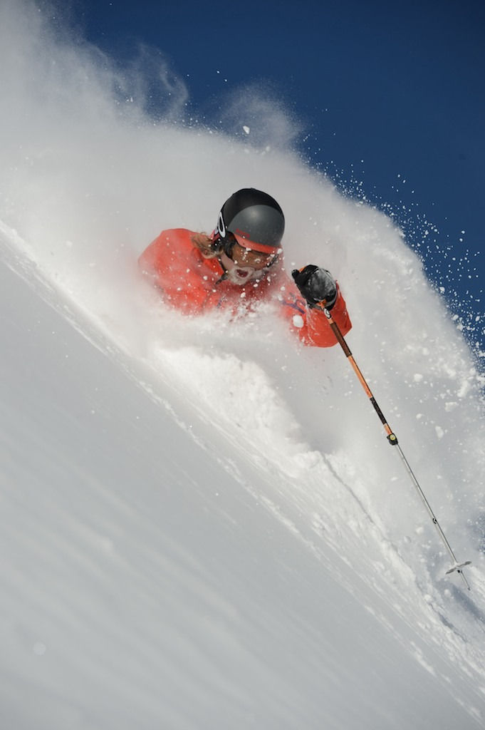 Mitch Cahoon going deep in his own personal snow heaven.