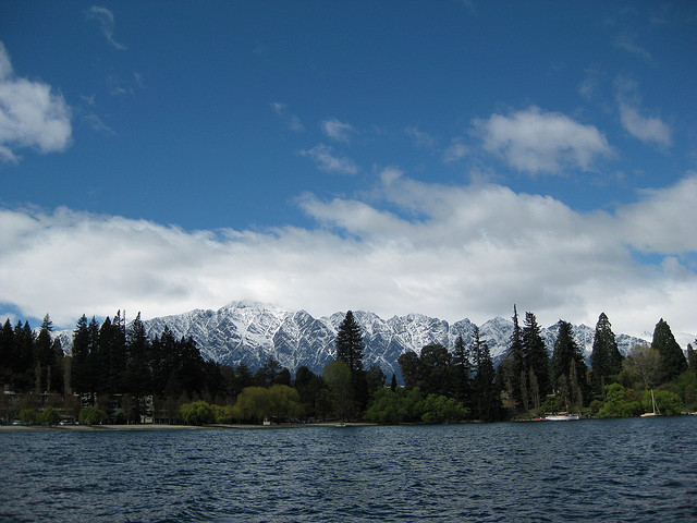 The Remarkables from the lake