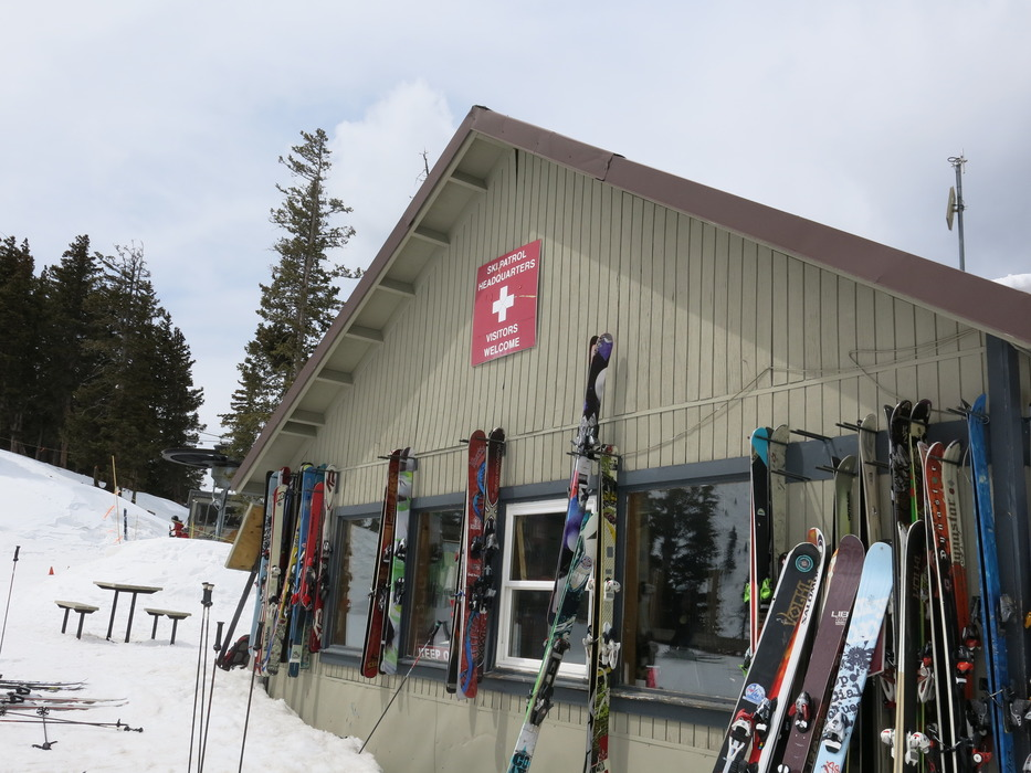 The Taos Ski Valley Patrol Hut at the top of Chair 2.