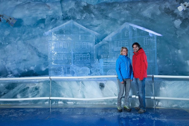 The glacier palace in Zermatt