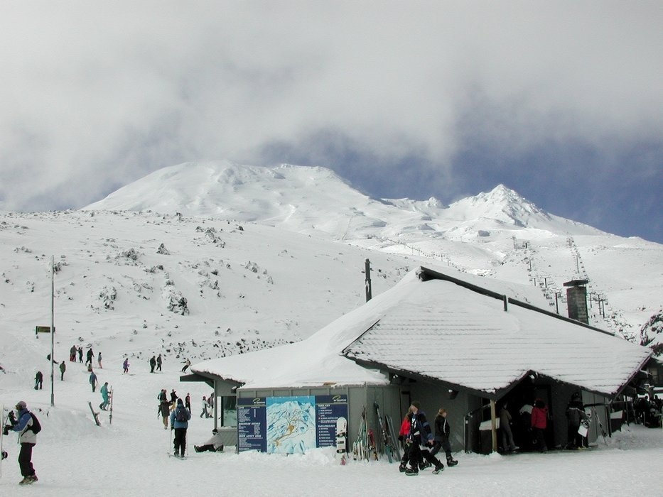 The base area of Mt Ruapehu's Turoa ski field in New Zealand.