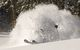 This skier is engulfed in powder in Keystone, Colorado