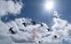 A skier performs an aerial trick at Sunshine Village Alberta