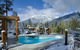 A cold plung pool with waterfall at Scandianve Spa at Whistler. Photo courtesy of Scandinave Spa.