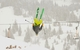 Former Breck Ski Instructor Corbin Redli backflips into Cucumber Bowl. - ©Josh Cooley