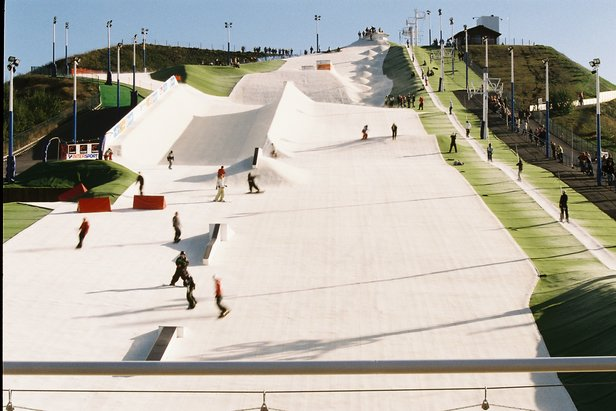 Dry ski slope in Halifax, UK