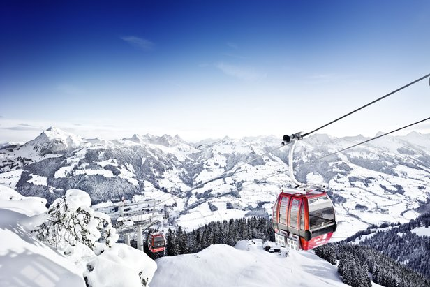 Far-reaching views from the Hahnenkammbahn in Kitzbuehel.  - ©Credit Bernhard Spoettl