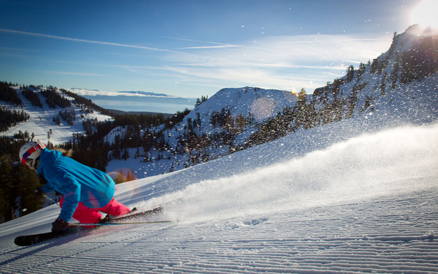 Ski Squaw and Alpine this winter any four days and save with the Tahoe Super 4 - ©Jeff Engebretson/Squaw Valley