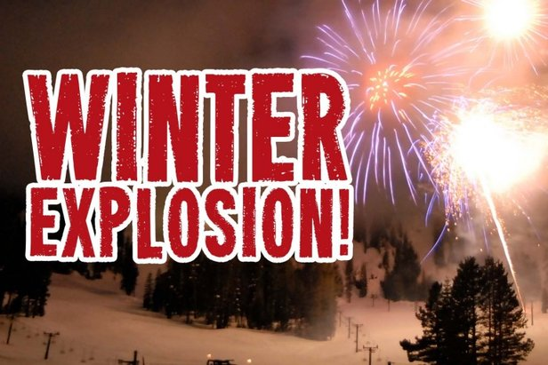 Enjoy fireworks, parade, dinner and movie at Bear Valley's Winter Explosion 2014 - ©Bear Valley