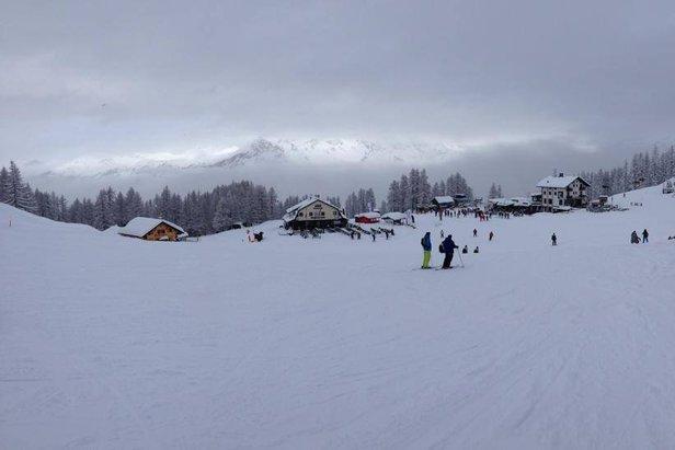 Snow clouds in Sauze d'Oulx Jan. 17, 2014