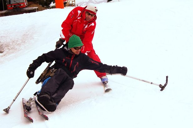 Sciare senza barriere - ©Tatu Handi Glisse Morillon