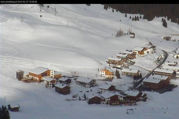 Fresh snow in Lech Zürs, Feb. 27, 2014