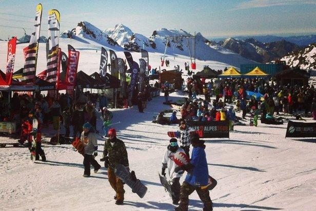 'Enjoy The Glacier' event on Les 2 Alpes glacier. Oct. 25-26, 2014