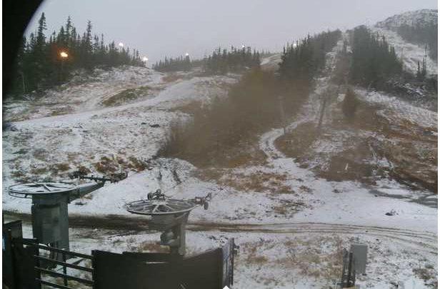 Første snøfall - 7. oktober 2014