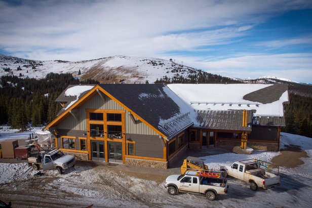 New Lunch Rock Restaurant under construction this fall at the summit of Mary Jane. - ©Winter Park Resort