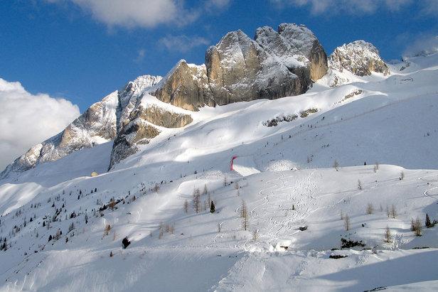 Le migliori 10 piste della Val di Fassa - 4) Pista Marmolada Pian dei Fiacconi - ©Val di Fassa / A. Mosler