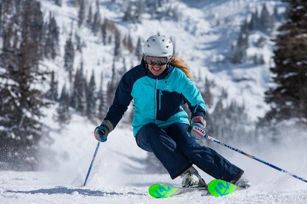 OnTheSnow Ski Testers exploring Snowbird - ©Liam Doran