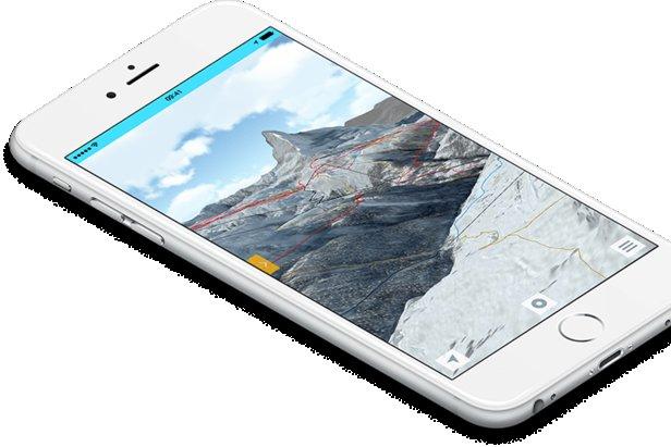 Fatmap's mobile 3D ski map - ©Fatmap
