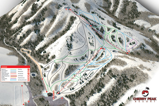 Cherry Peak opened in Dec. 2015 with 2 triples and a carpet. - ©Cherry Peak