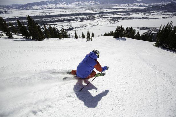 The new Teton Lift accesses the full length of Kemmerer Run. - ©Jackson Hole Mountain Resort