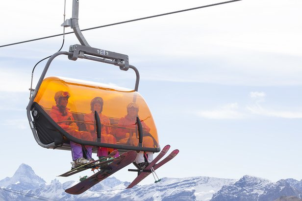 Sunshine Village inaugurated Canada's first heated lift called Tee Pee Town. - ©Sunshine Village
