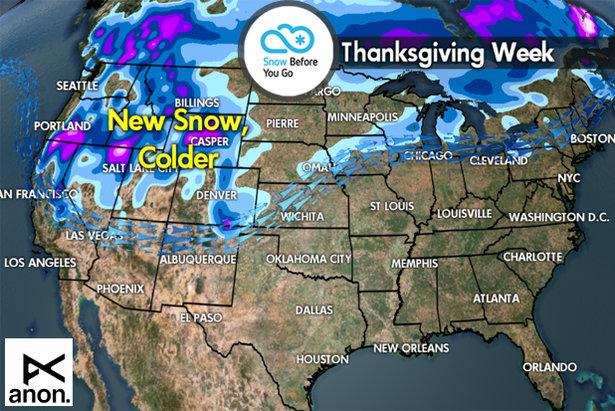 Thanksgiving SnowB4U Go - ©Meteorologist Chris Tomer