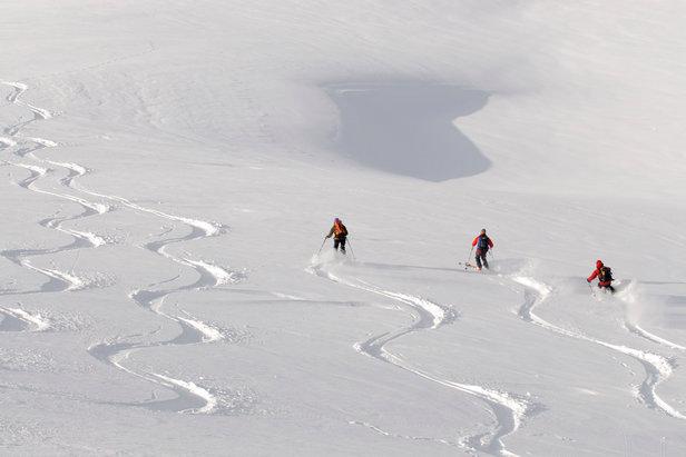 Traumhafte Pulverschnee-Abfahrt vom Gipfel des Joel - ©Nobert Eisele-Hein