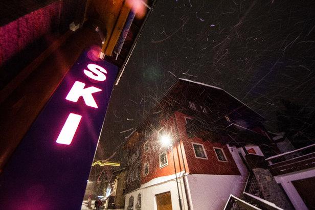 Schneetreiben in St. Anton - ©Skiinfo
