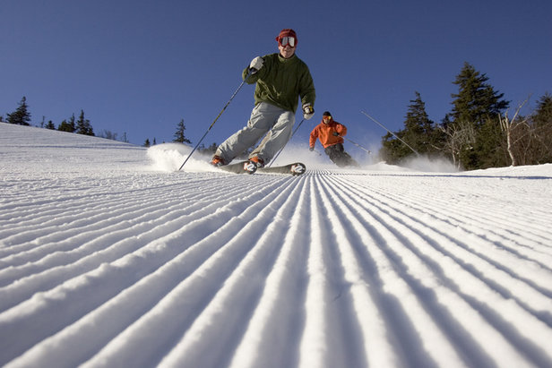 Cutting the corduroy at Sunday River in Maine. - ©Sunday River