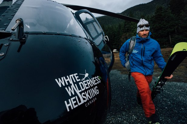 Ken Bibby, Operations Manager for White Wilderness, heads to the lodge after a limitless day of vertical. - ©Kyle Hamilton Photography