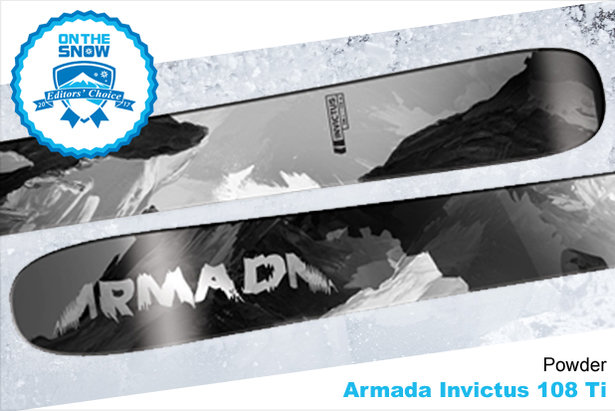 Armada Invictus 108 Ti, men's 16/17 Powder Back Editors' Choice ski. - ©Armada