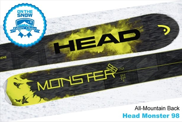 Head Monster 98, men's 16/17 All-Mountain Back Editors' Choice ski. - ©Head