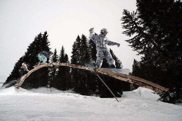 Avoriaz's ecological snowpark The Stash, France - ©Avoriaz