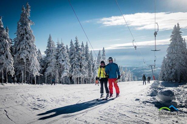 Od pátku se ve SkiResortu lyžuje na 10 km ve dvou areálech - ©SkiResort ČERNÁ HORA - PEC