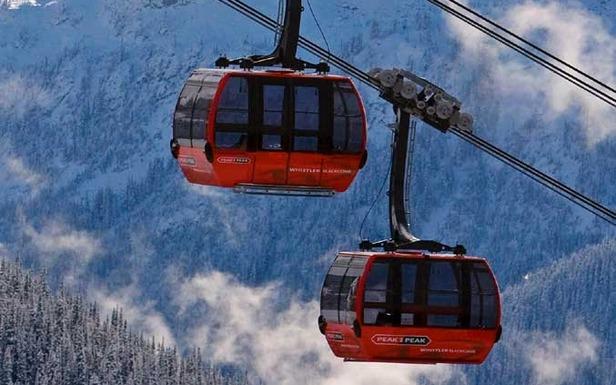 Whistler's Peak2Peak lift joins Whistler and Blackcomb Mountains.
