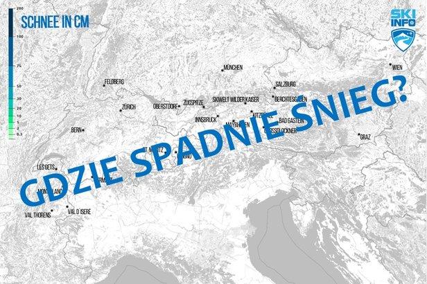 Mapa: codzienna prognoza opadów śniegu dla Alp - ©Skiinfo