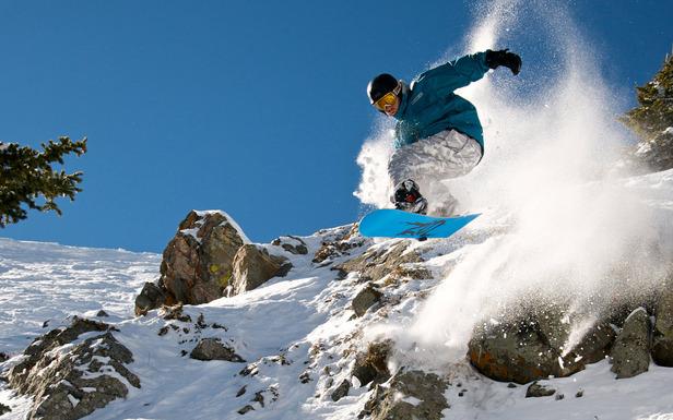 Taos NM Snowboarder 2