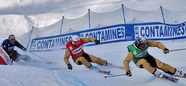 Crédit photo : agence Nuts / Coupe du Monde de Skicross Contamines