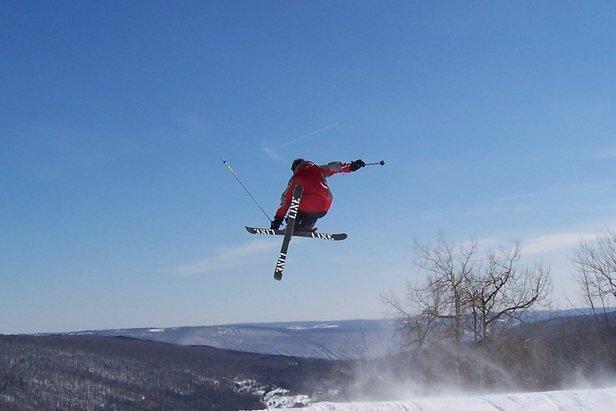 Bristol Mtn NY terrain park skier