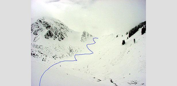 Aufstiegsroute - links der Bschießer - ©XNX GmbH
