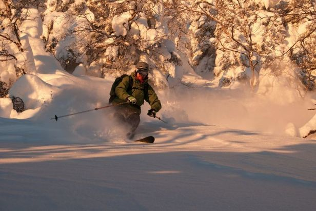 Afternoon pow turns at Jay Peak. Photo Courtesy of Jay Peak Resort.
