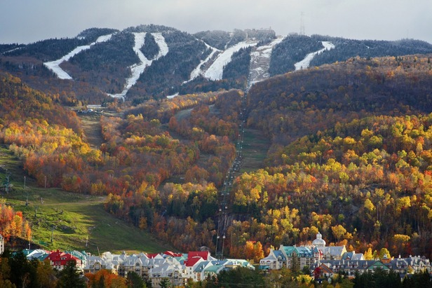 Snow on top of Tremblant.