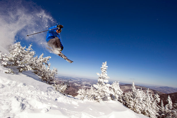 Air time is inevitable on the steep-pitched Double Blacks at Smugglers' Notch. Photo Courtesy of Smugglers' Notch.