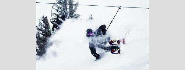 Chris Bentchetler reaping the benefits of Winter Storm Brutus at Mammoth Mountain. Photo:Chris Bentchetler/Mammoth Mountain/Instagram
