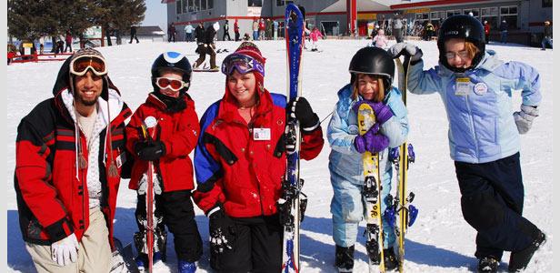 Group of skiers at Powder Ridge, Minnesota - ©Powder Ridge